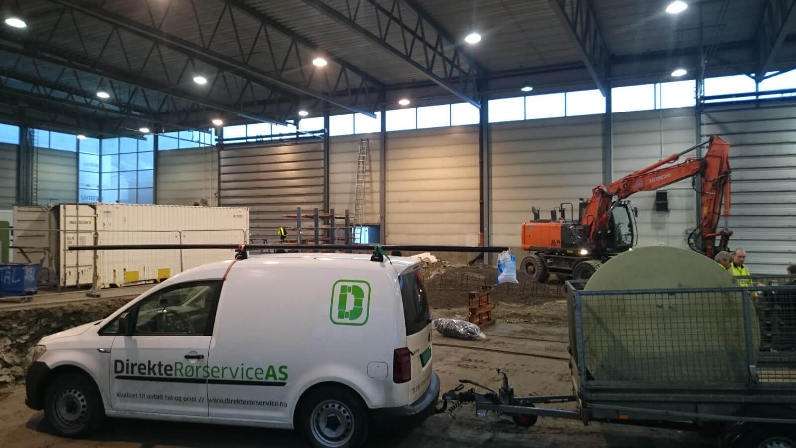 Arbeid i verkstedshallen til Nordic Crane