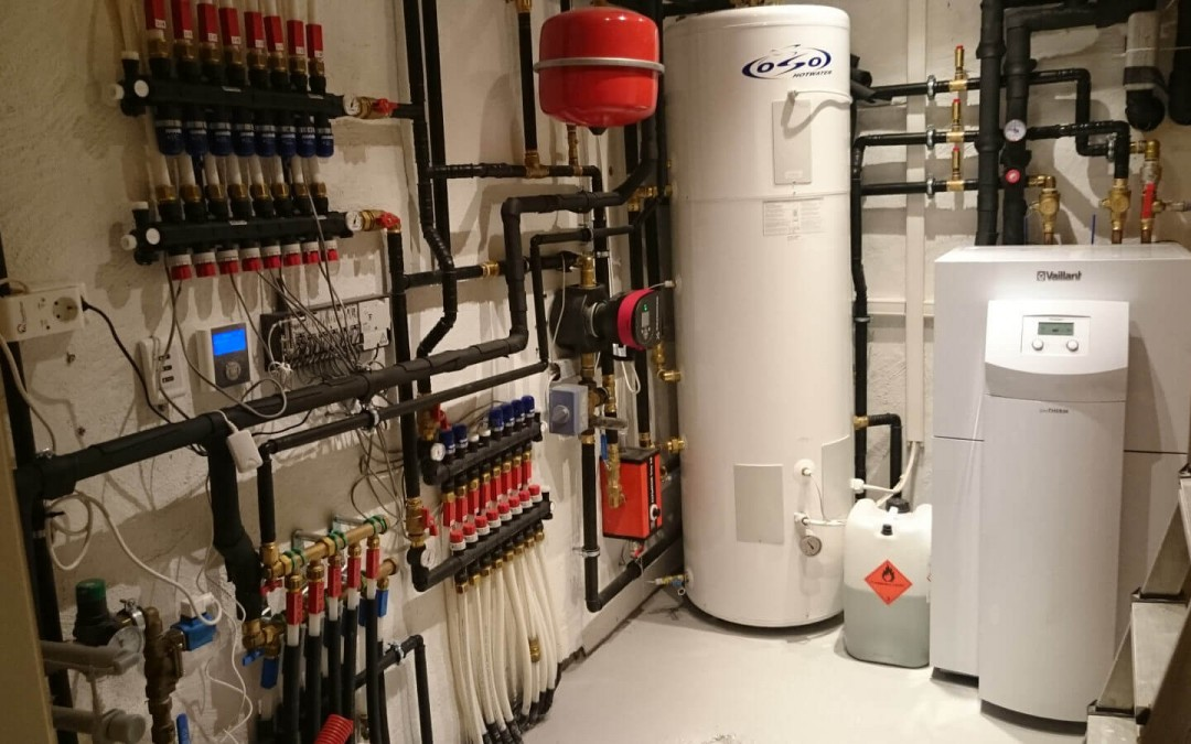 Varmepumpe og kjøling installert i villa