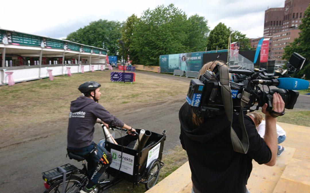 NRK med innslag om service-sykkelen vår